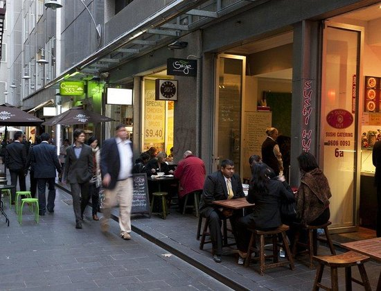 Causeway 353 Hotel: Equitable Place Hotel Entrance And Laneway Cafes