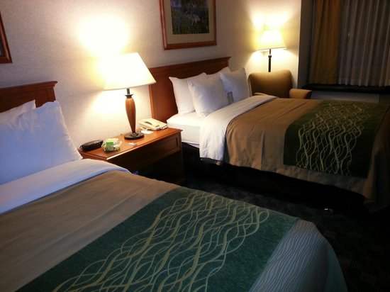 Comfort Inn & Suites: Double beds