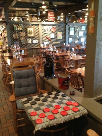 Checkers table with other tables picture of cracker for How did cracker barrel get its name