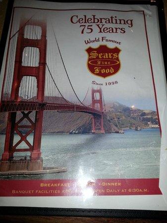 Sears Fine Foods: Menu