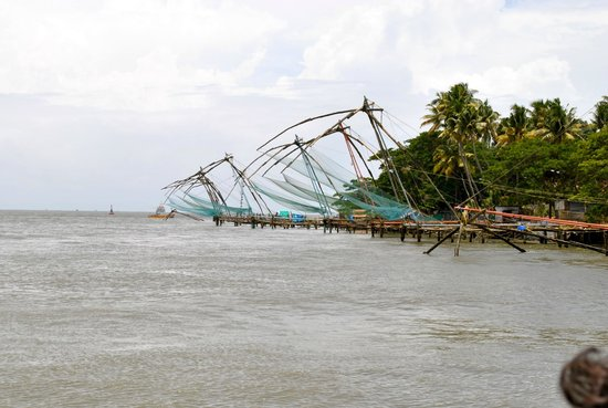 Jasmin Villa Homestay: chinese fishing nets at fort kochi