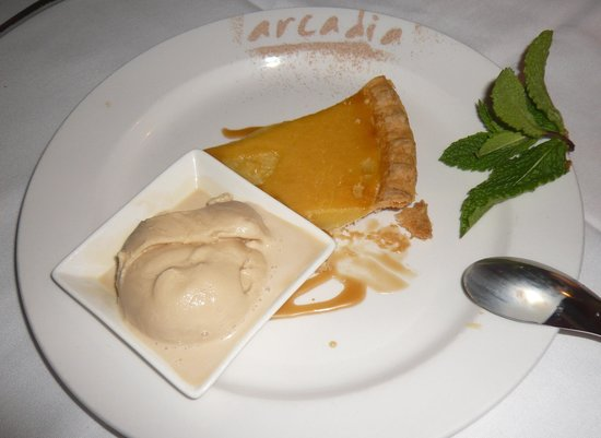 Arcadia: Lemon chess pie & salted caramel ice cream
