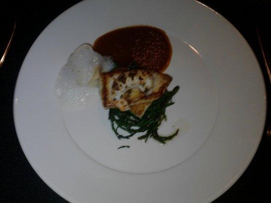 The Boat House Restaurant: Pan roasted fillet of Turbot, Portavogie prawn tortellini, grilled langoustine...