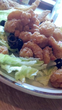 Newfound Lodge Restaurant: Fried Shrimp from the bar...YUM!