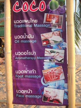 Coco Lanta Resort: Massages