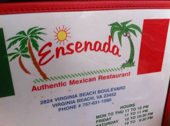 Ensenada Mexican Restaurant Menu