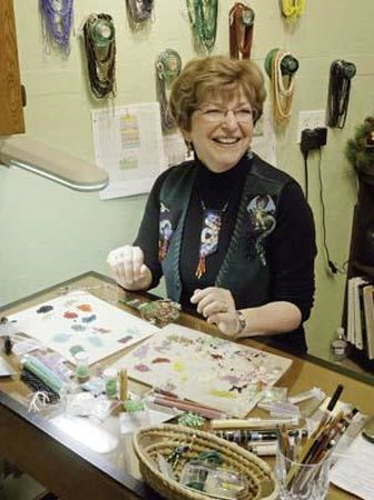 Artisans at the Dahmen Barn: One studio has a bead artist who loves to share her work