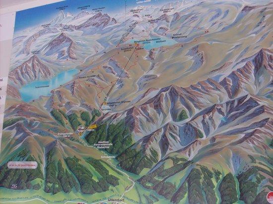 Alpengasthof Enzingerboden: la cartina del luogo con la funivia