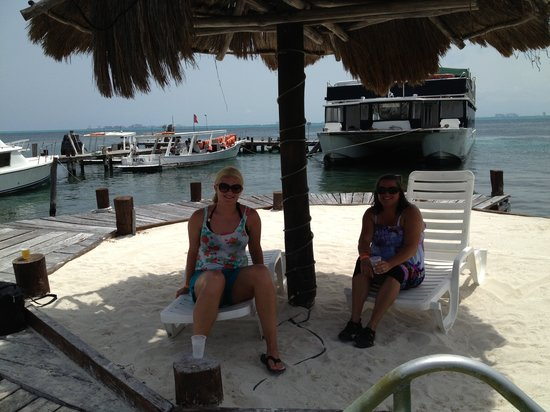 Caribbean Funday: One seating area away from others