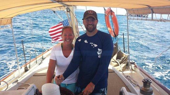 Yacht Nightwind : Taking the wheel