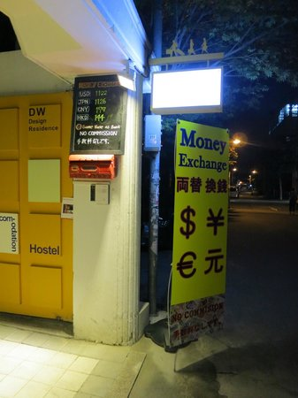 DW Design Residence: you can exchange money here
