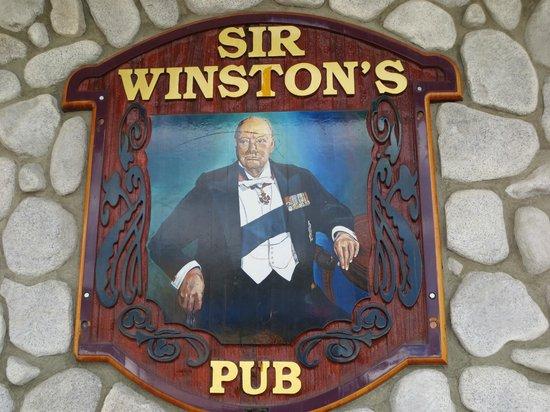 Sir Winston's Pub : The pub's sign