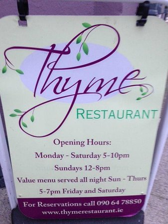 Thyme Restaurant : Outside the restaurant (where free wi-fi works with great speed)