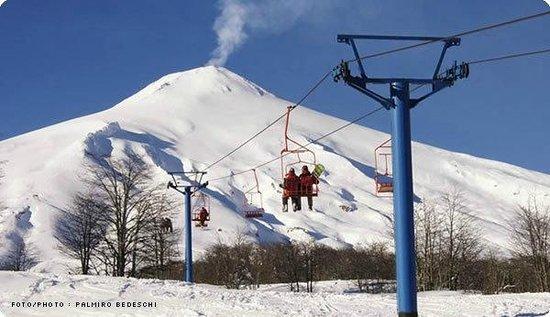 Cabañas Huarranchi: Desde todas partes tenemos vista al Volcán Villarrica