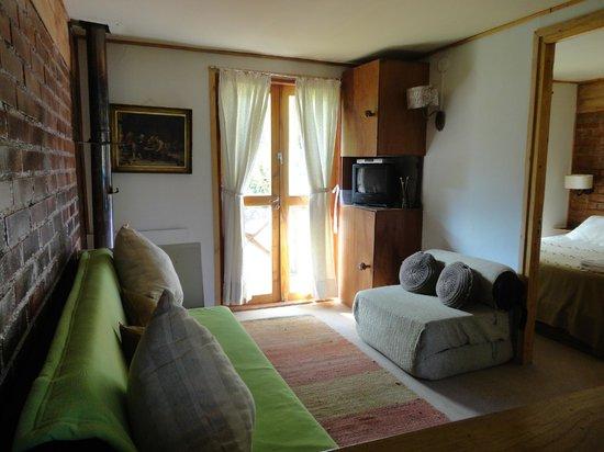 Cabañas Huarranchi: Zona de estar...un lugar tranquilo...