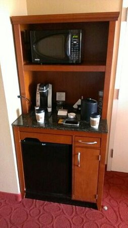 Hilton Garden Inn Chicago O'Hare Airport: mini fridge and a microwave