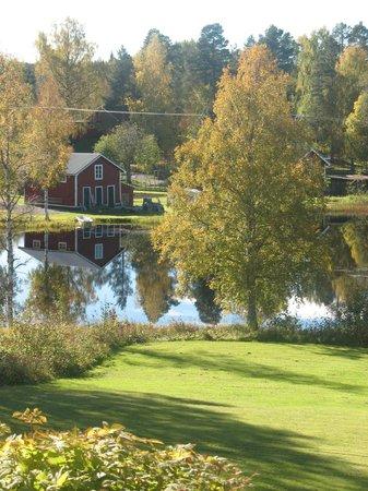 Jadraas, Sweden: View from the sun parlor. Utsikt från glasverandan.