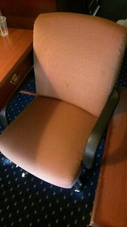 SureStay Plus Hotel by Best Western Chicago Lombard: stained office chair