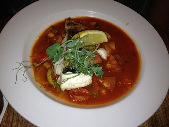The Tinners Arms: Cod chickpea and chorizo stew