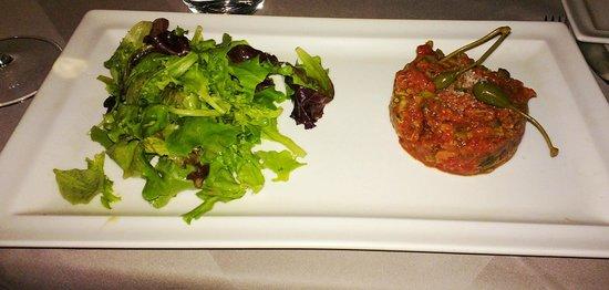Cap Riviera : Beef tartar (a total failure)