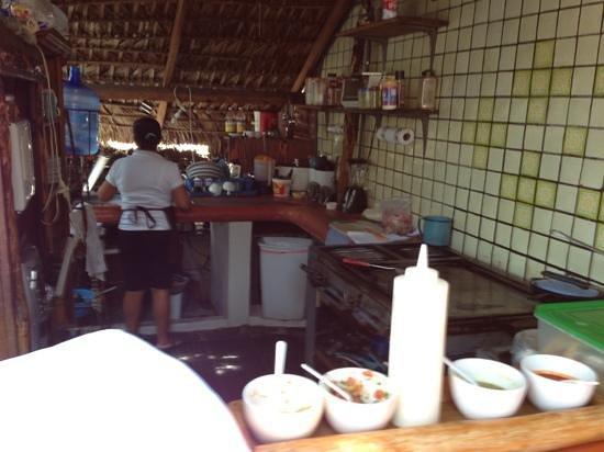Fonda El Zaguan : cocina del restaurante