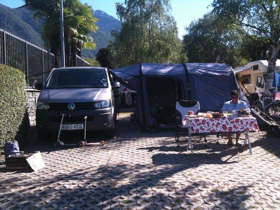 Caravan Camping Miralago: Our Setup