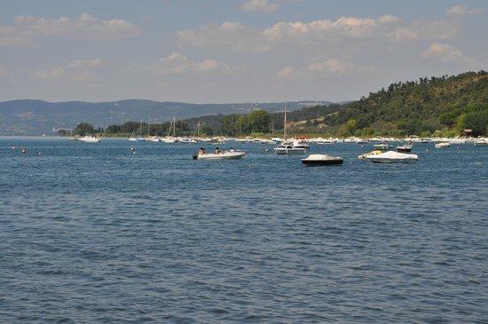 Isola Blu: veduta dall ingresso del ristorante