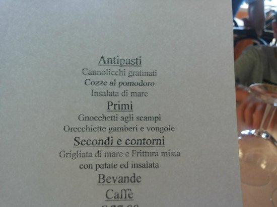 Montefiascone, Italia: il menu fisso