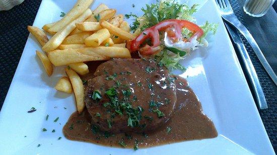 Le Lunel : Steak hache (excellent for the price)