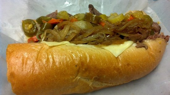 A Taste of Chicago's Italian Style Beef: Alt angle of Mr. O's House Special Sandwich