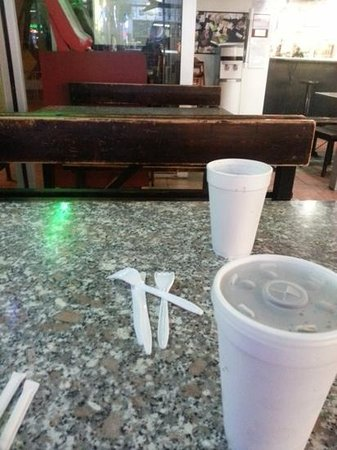 Casola's Pizzeria & Sub Shop: the tables and drinks