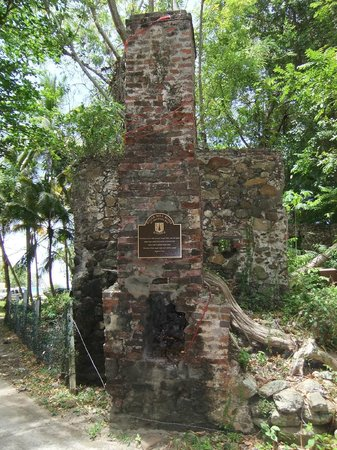 Brewers Bay: An old sugar mill just down the road