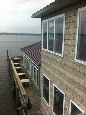 Stoney's Solomon's Pier: View from up high of outdoor seating