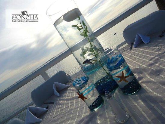 La Concha Beach Resort: Eventos en area de Terraza con vista al mar