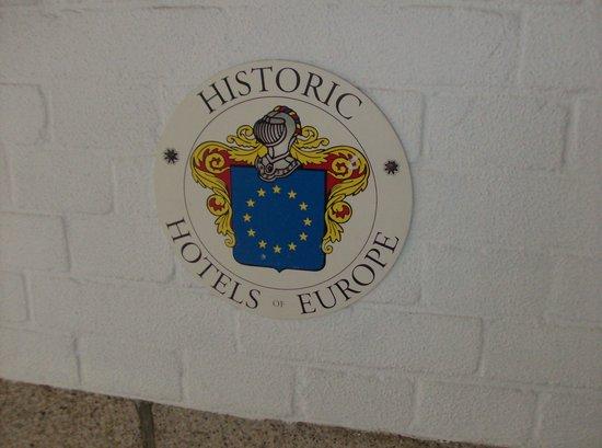 Hampshire Hotel - Amsterdam American: Il marchio che certifica l'appartennza dell'hotel all'elenco di quelli storici d'europa