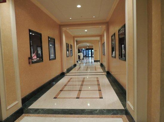 Hilton Antwerp Old Town: Más escaparates dentro del hall del hotel