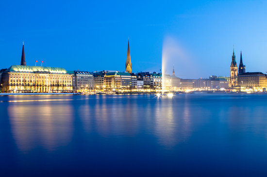 Alster Lake - Picture Of Hamburg  Germany