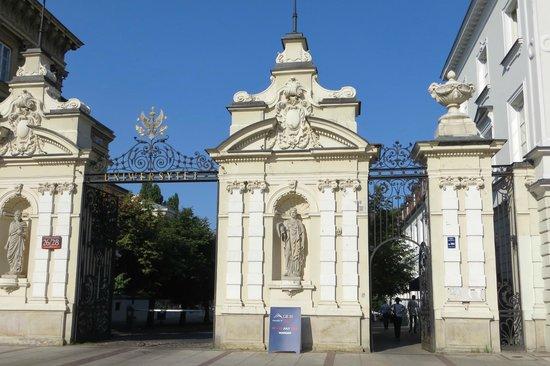 University of Warsaw (Uniwersytet Warszawski) : the gate