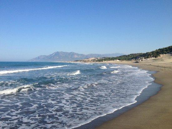 Xanthos Boutiquehotel : La spiaggia di Patara al mattino