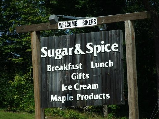 Maple Sugar & Vermont Spice: Look for this sign on route 4