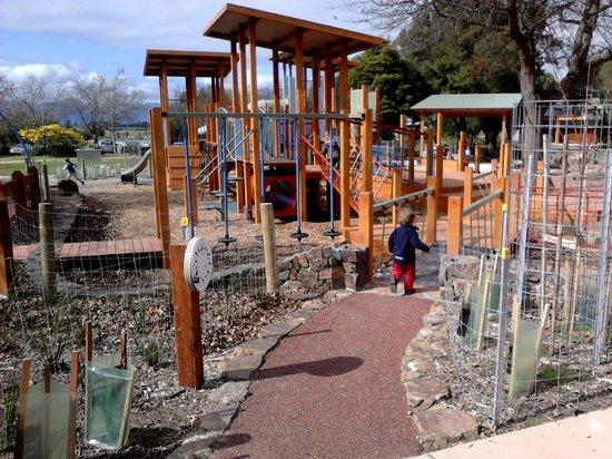 Yarra Glen Adventure Playground, McKenzie Reserve: Where will you hide?