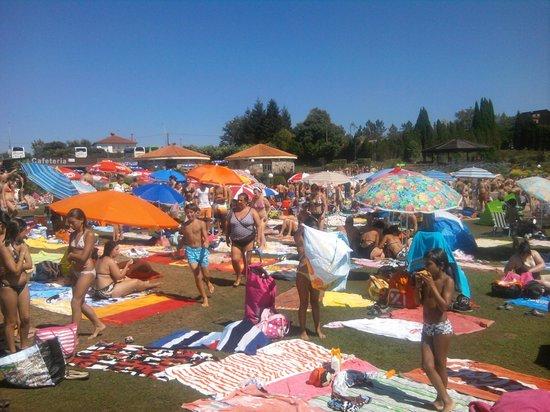 Cerceda, Испания: Campo de sombrillas