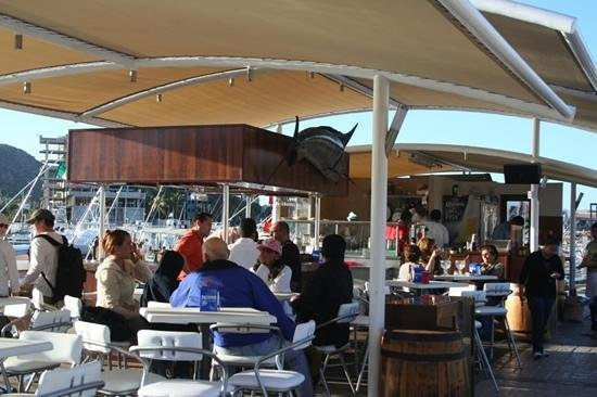 got hooked? come to Fisherman's Landing Bar