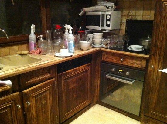 Chalet L'Alpicois: Filthy messy kitchen