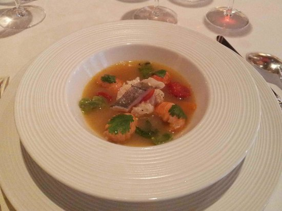 Restaurant Georges Blanc: Merlu et écrevisses