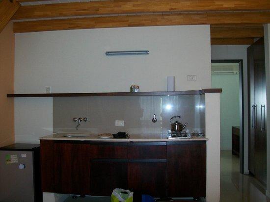 Aguaribay Apart hotel: la mini-cocina