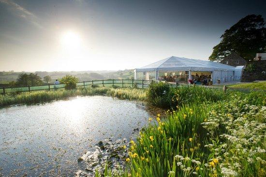 Lantallack Getaways: Stunning Marquee on Lantallack's Lawn Terrace