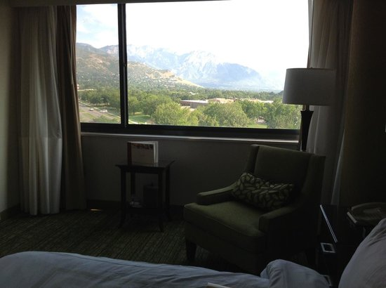 Salt Lake City Marriott University Park: Turn the chair around and take in the view