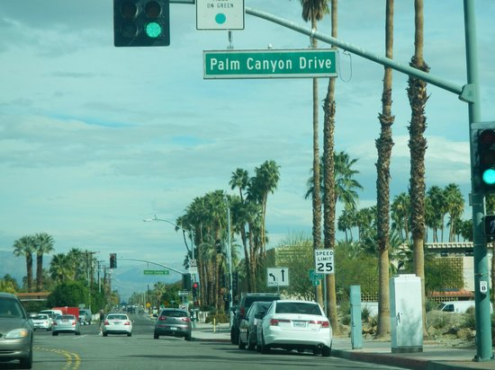 Palm Canyon Drive: go street sign