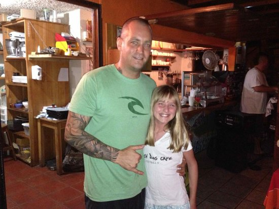 Beach Dog Cafe : Mike (owner) with my daughter
